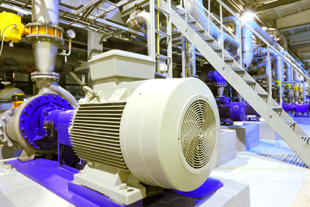 Electric motor in a warehouse
