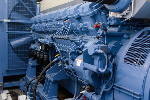 Diesel generator in a factory